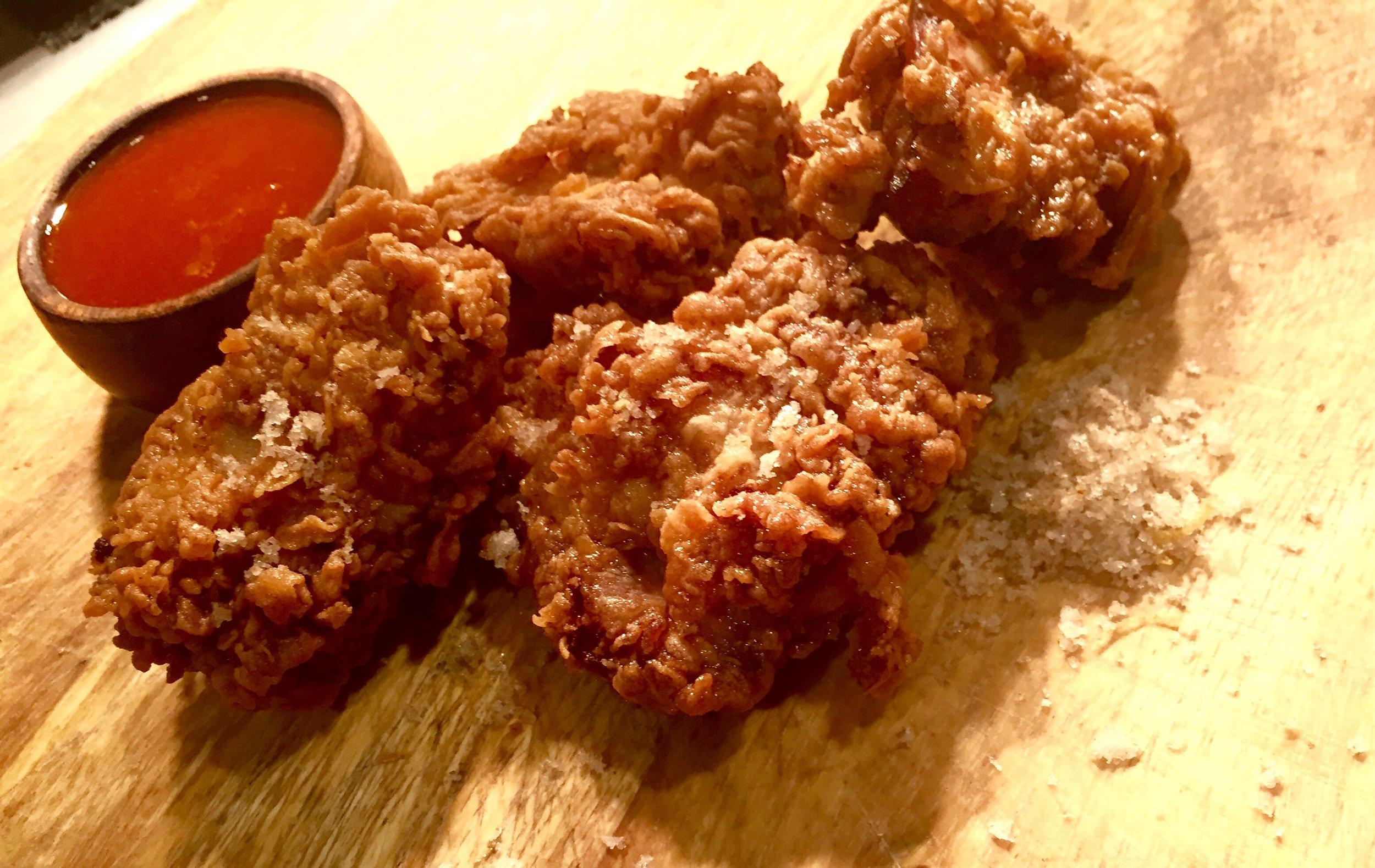 Fried Chicken with Citrus & Fennel Salt