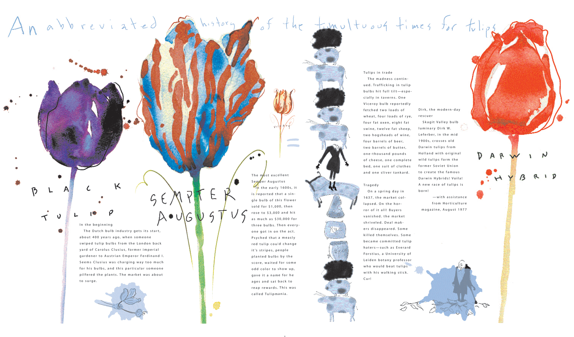 A timeline of tulip debauchery. Best to have some fun with this info.
