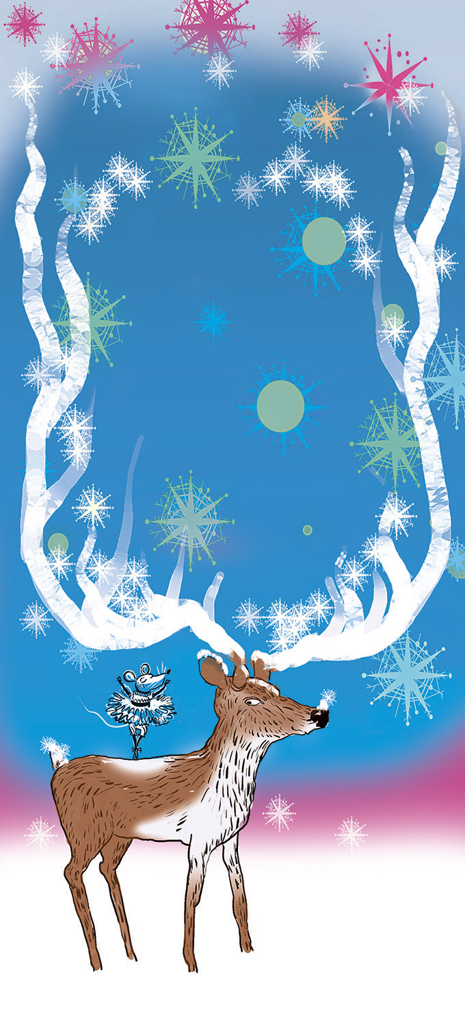 Holiday Activities cover. Antlers are a nice frame, ready for the headline.