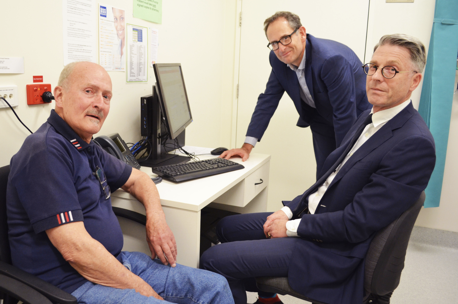 Alfred Health patient with a/Prof jeremy grummet and a/prof jeremy millar