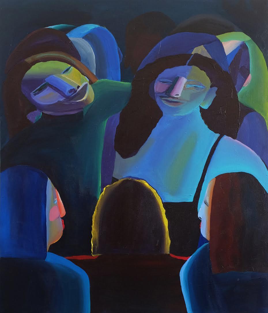 "In the Spotlight, 36"" x 31.5"" Acrylic on canvas  2018"