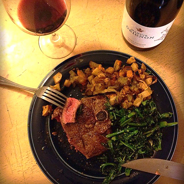 """""""I don't always eat medium-rare pastured lamb, but when I do, I listen to  Electric Ladyland  and have it with winter root vegetables and de ciccio broccoli. And wine. Lots of wine."""""""