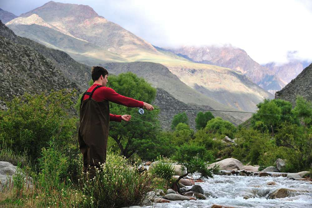 Flyfishing in the Andes, Argentina