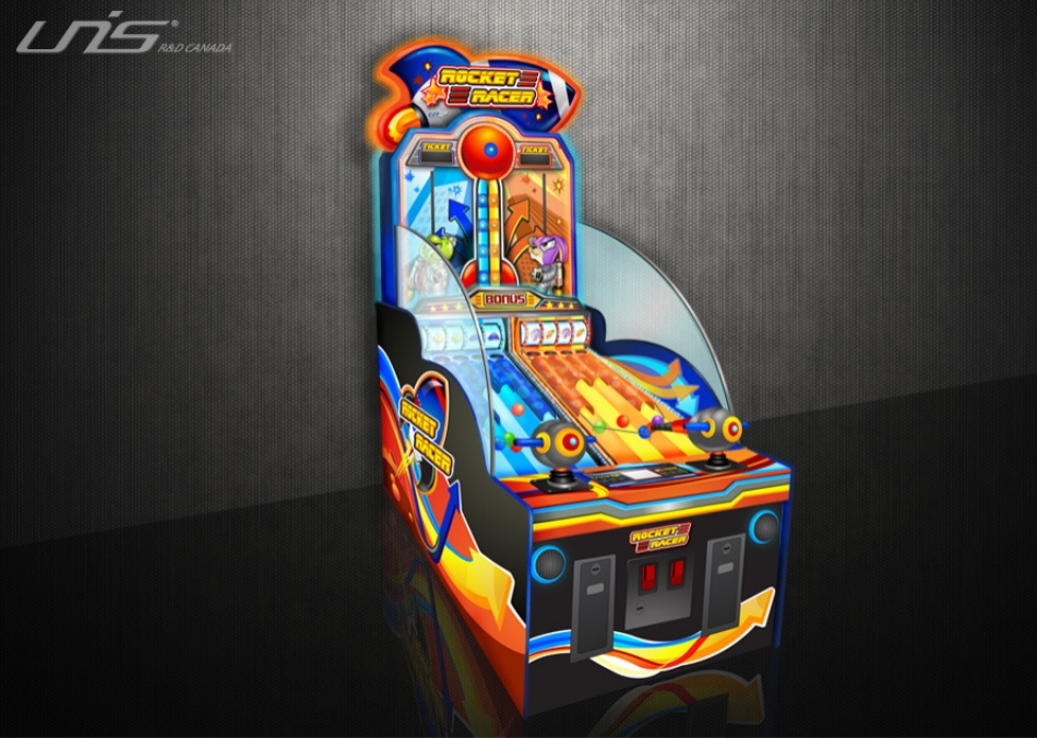 Rocket Racer: Game still in production. Designed the overall cabinet look.