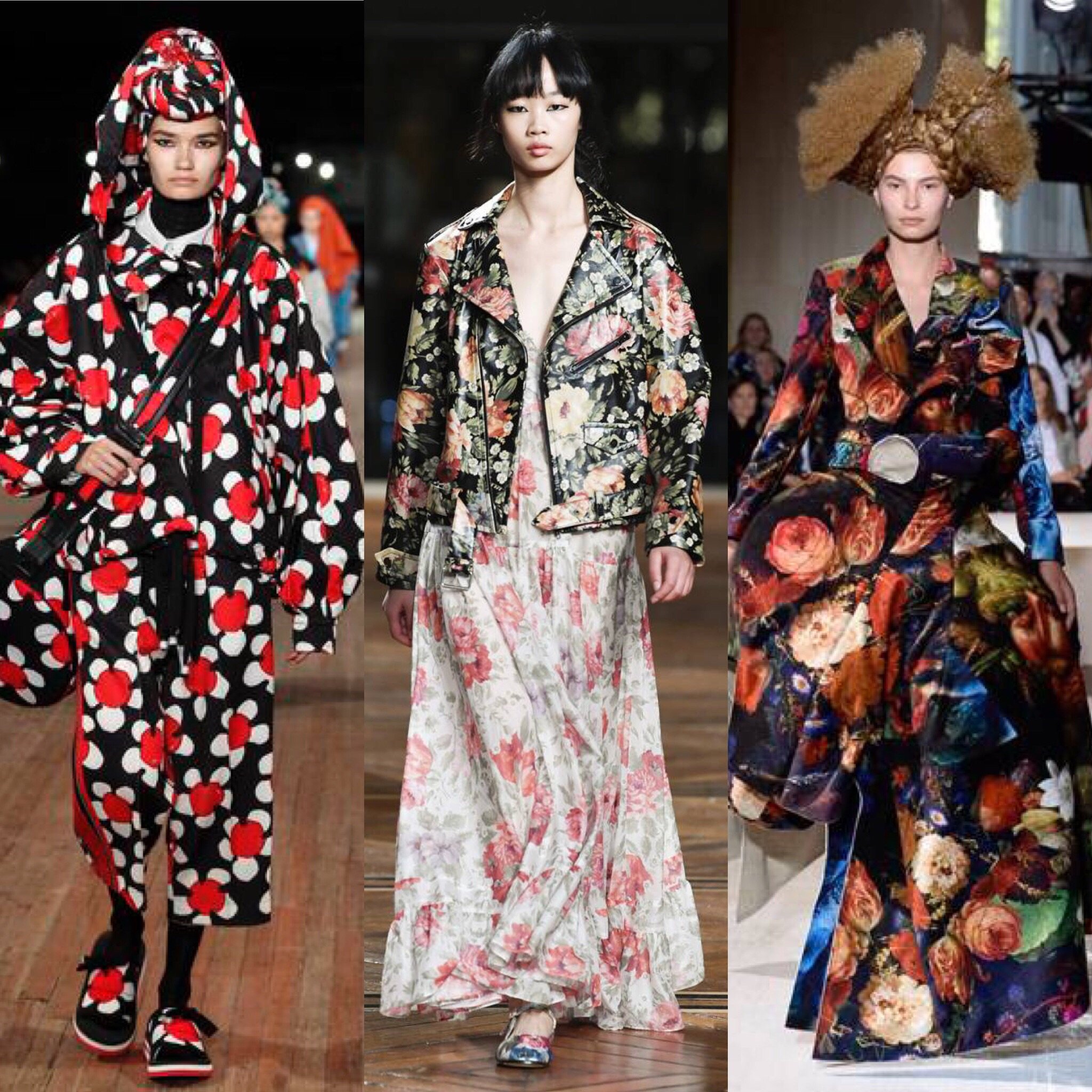 Spring/summer 2018 RTW Collections of (L to R) Marc Jacobs, Louis Vuitton, Comme des Garçons