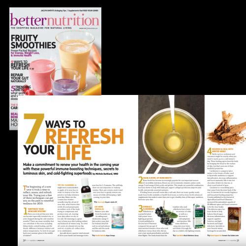 Michele Burklund Better Nutrition Magazine 7 ways to refresh your life