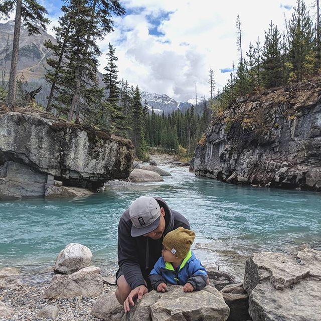 My guy #hiking #kootenaynationalpark #parkscanada #marblecanyon #photooftheday #britishcolumbia  photo by: @sheryl.p.santos