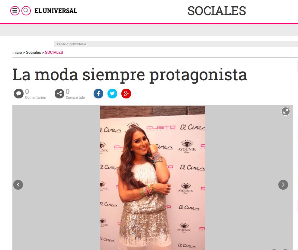 """El Universal"" newspaper. AYOUNIK and CUSTO BARCELONA runway. May 2015."