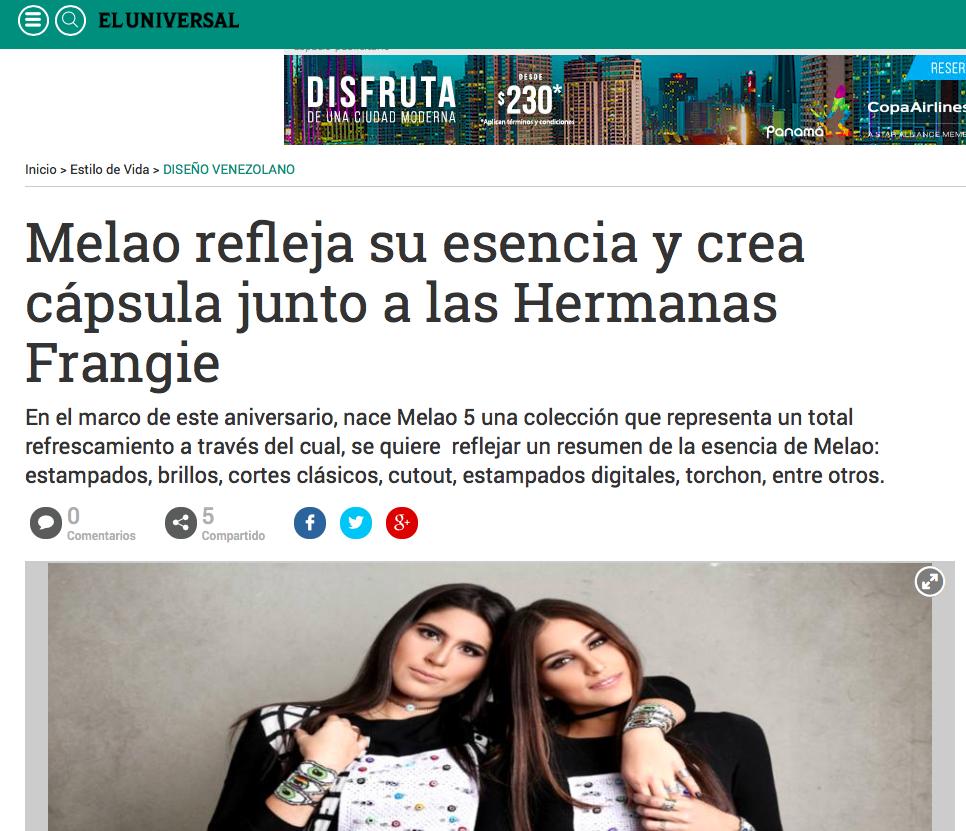 """EL UNIVERSAL"" newspaper. Oct 2016,"