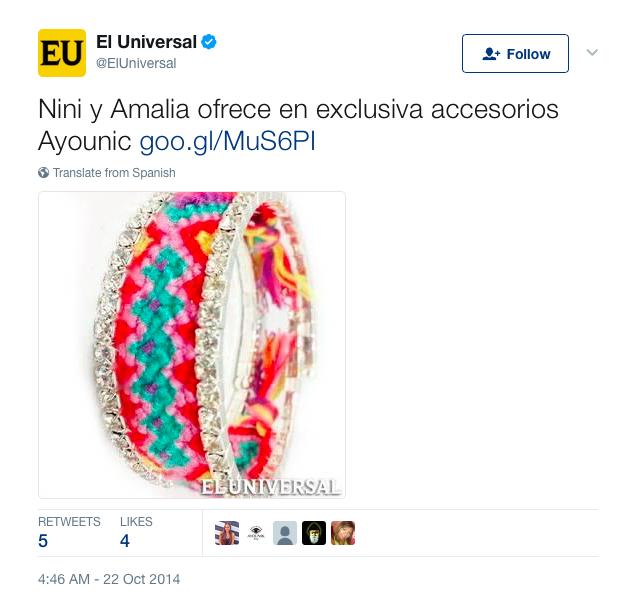 """El Universal"" Oct 2014."