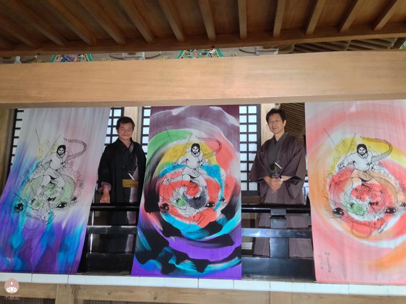 (左)奥田裕斎先生 (右)村上もとかさん