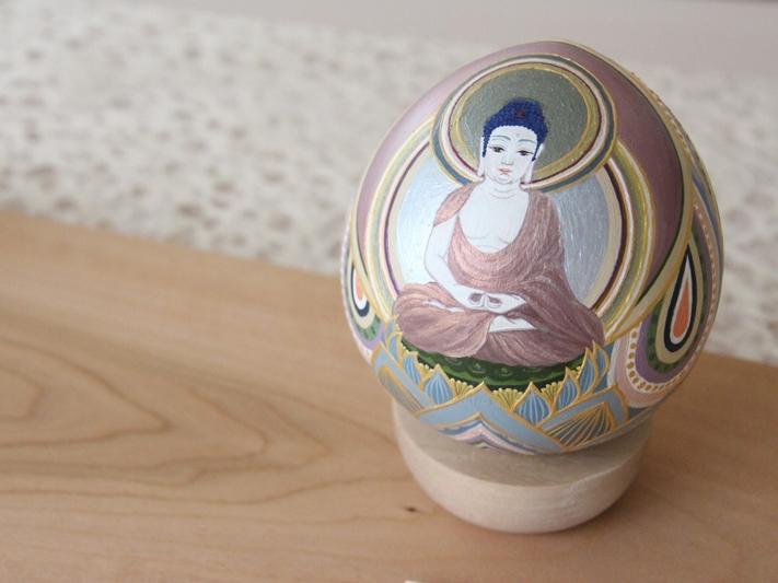 阿弥陀如来(戌・亥年) (2014) Acrylic on Wood /Size: 80mmφ