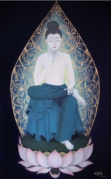 こころの中に (2013) 72.7cm x 116.7cm (M50) Acrylic on canvas