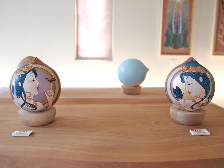 秋分観音・春分観音(2014) Acrylic on Wood /Size: 80mmφ