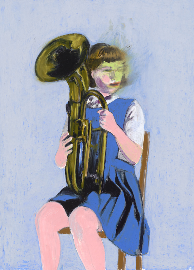 GIRL WITH BARITONE HORN