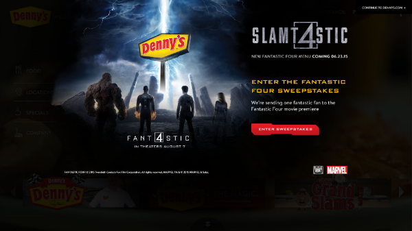 Enter to Win! / © Denny's / 20th Century Fox / MARVEL
