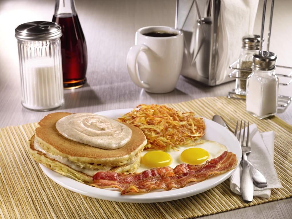 Denny's Pumpkin Pancake Breakfast (Image © Denny's)