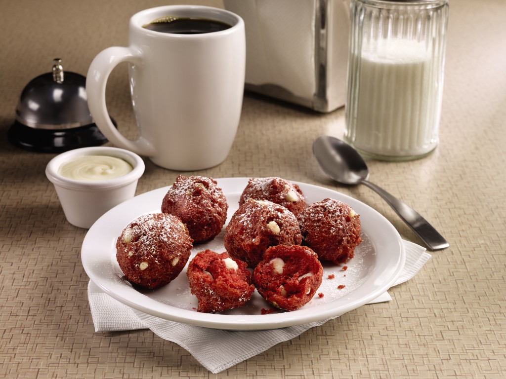 Red Velvet Pancake Puppies (Image © Denny's)