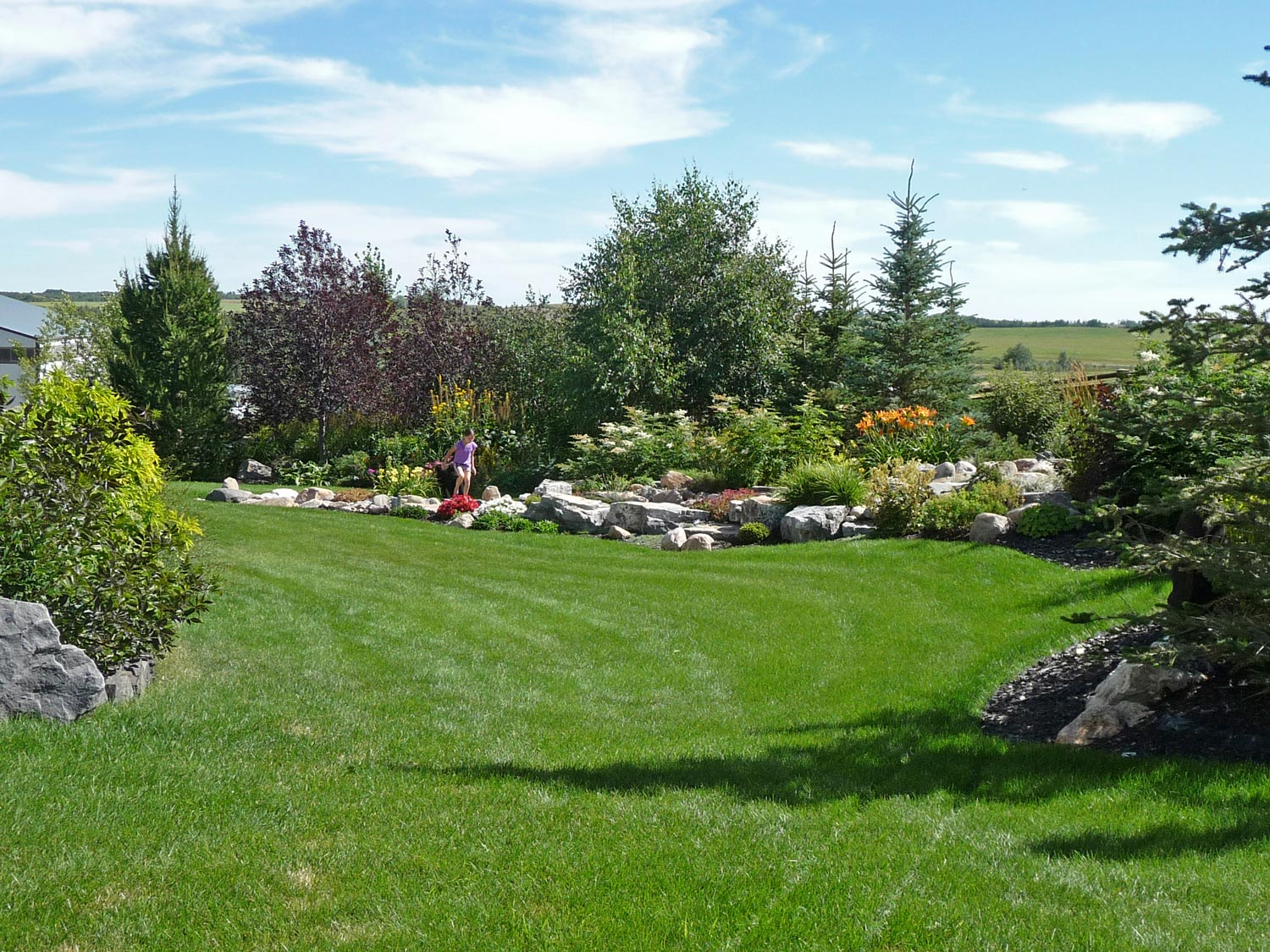 natural lawn and landscape design outside calgary