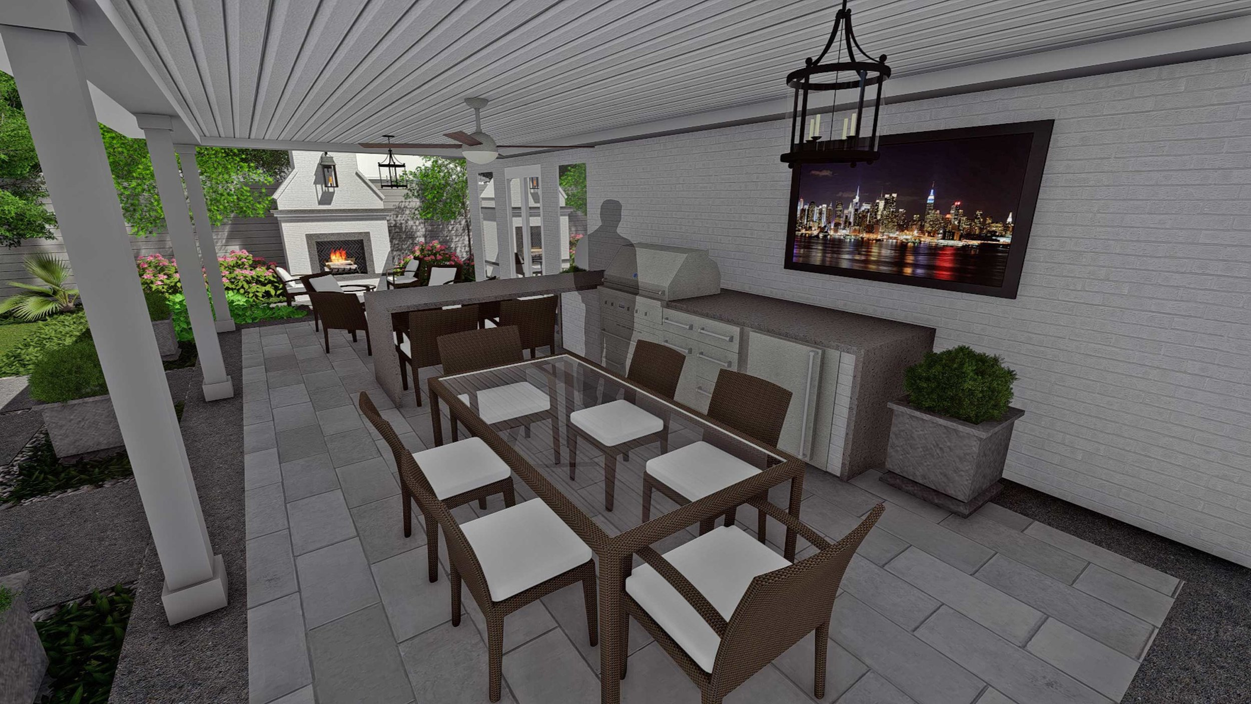 Covered Patio & Outdoor Living Area