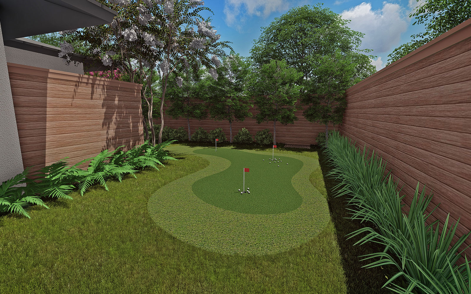 PUTTING GREEN & SIDE YARD