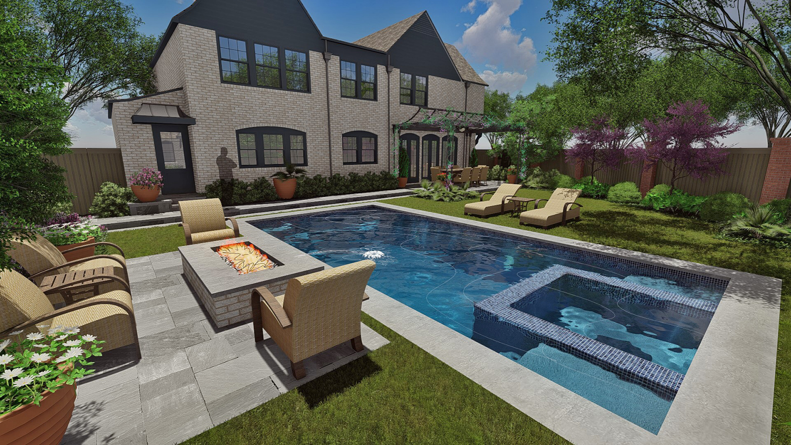 Copy of NEW POOL VIEW TO HOUSE