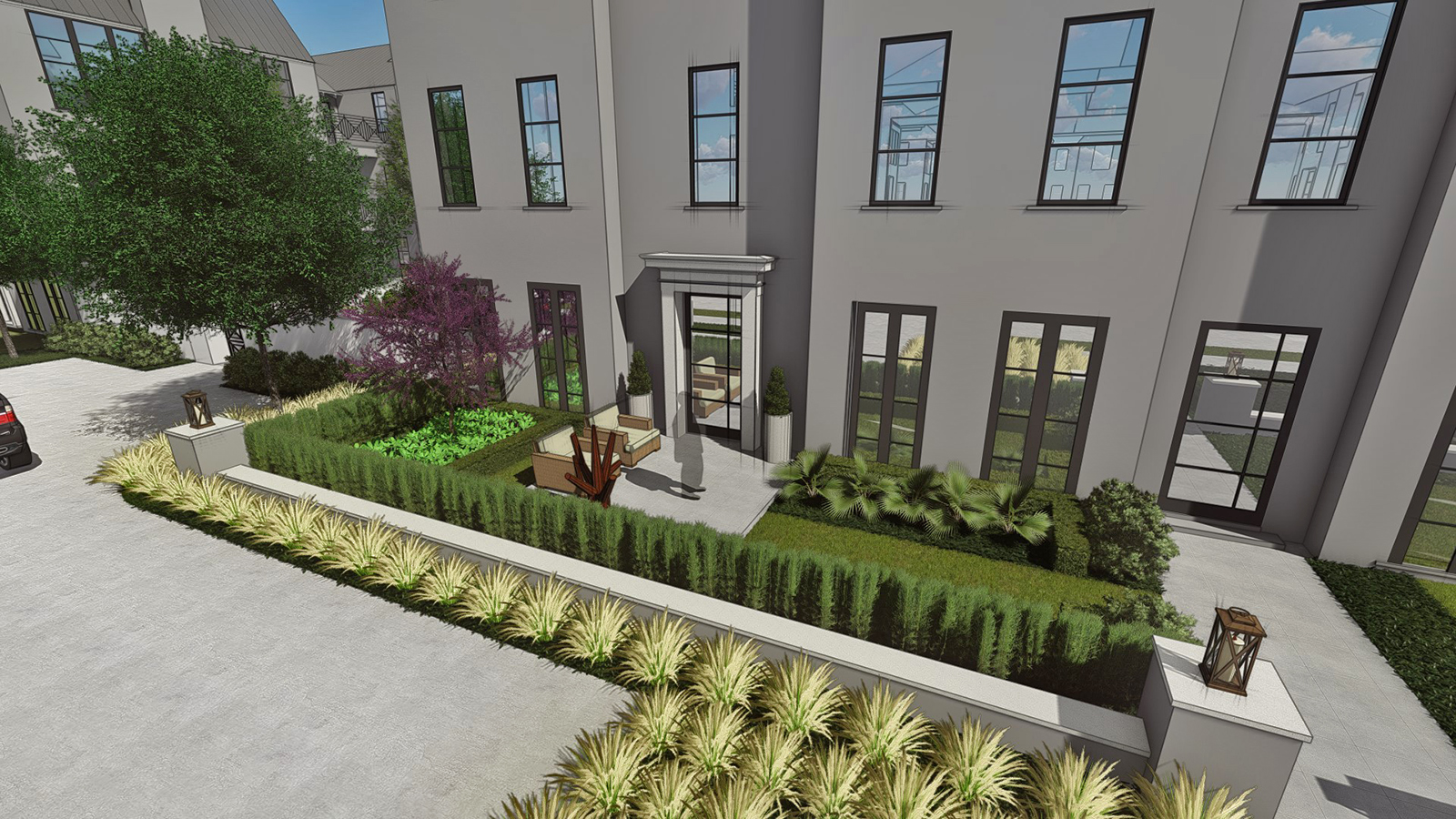 FRONT COURTYARD VIEW