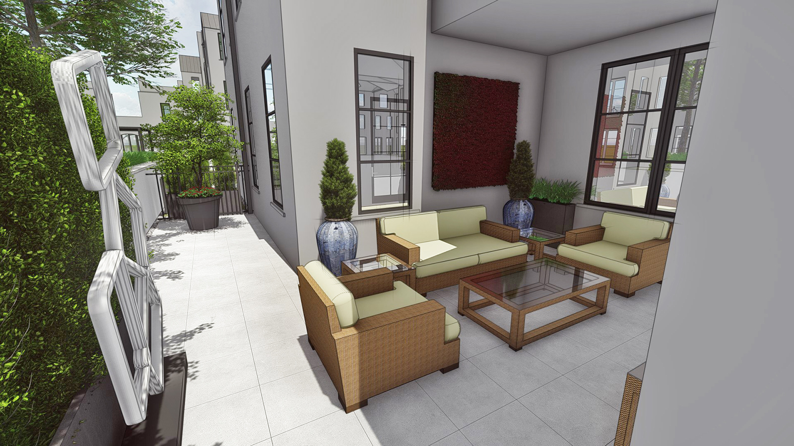 COVERED COURTYARD AREA