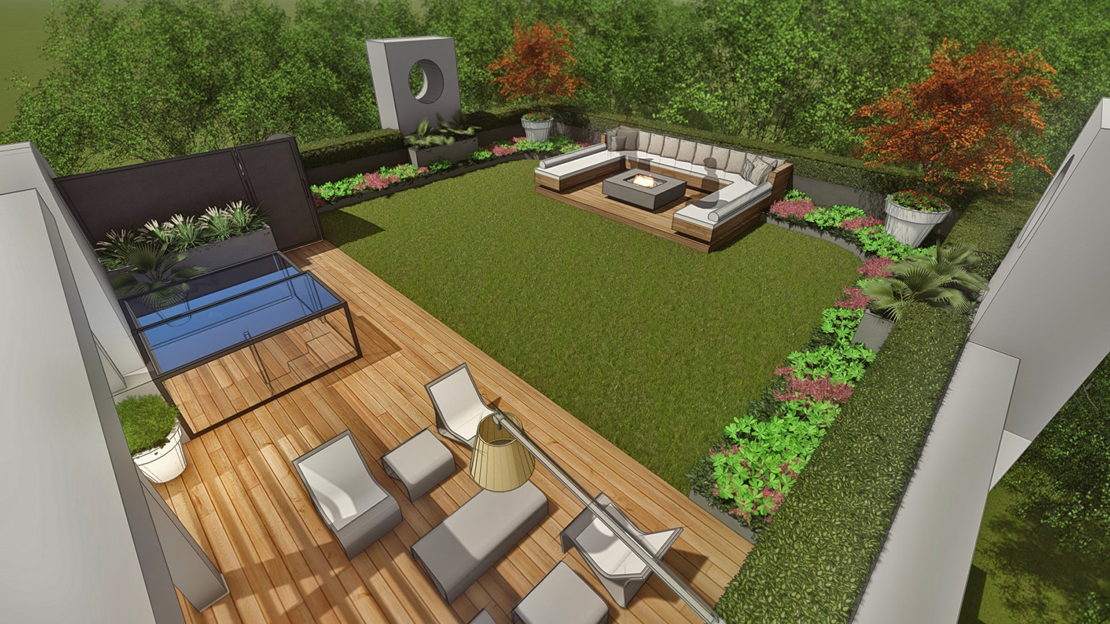 ROOFTOP LAWN AREA