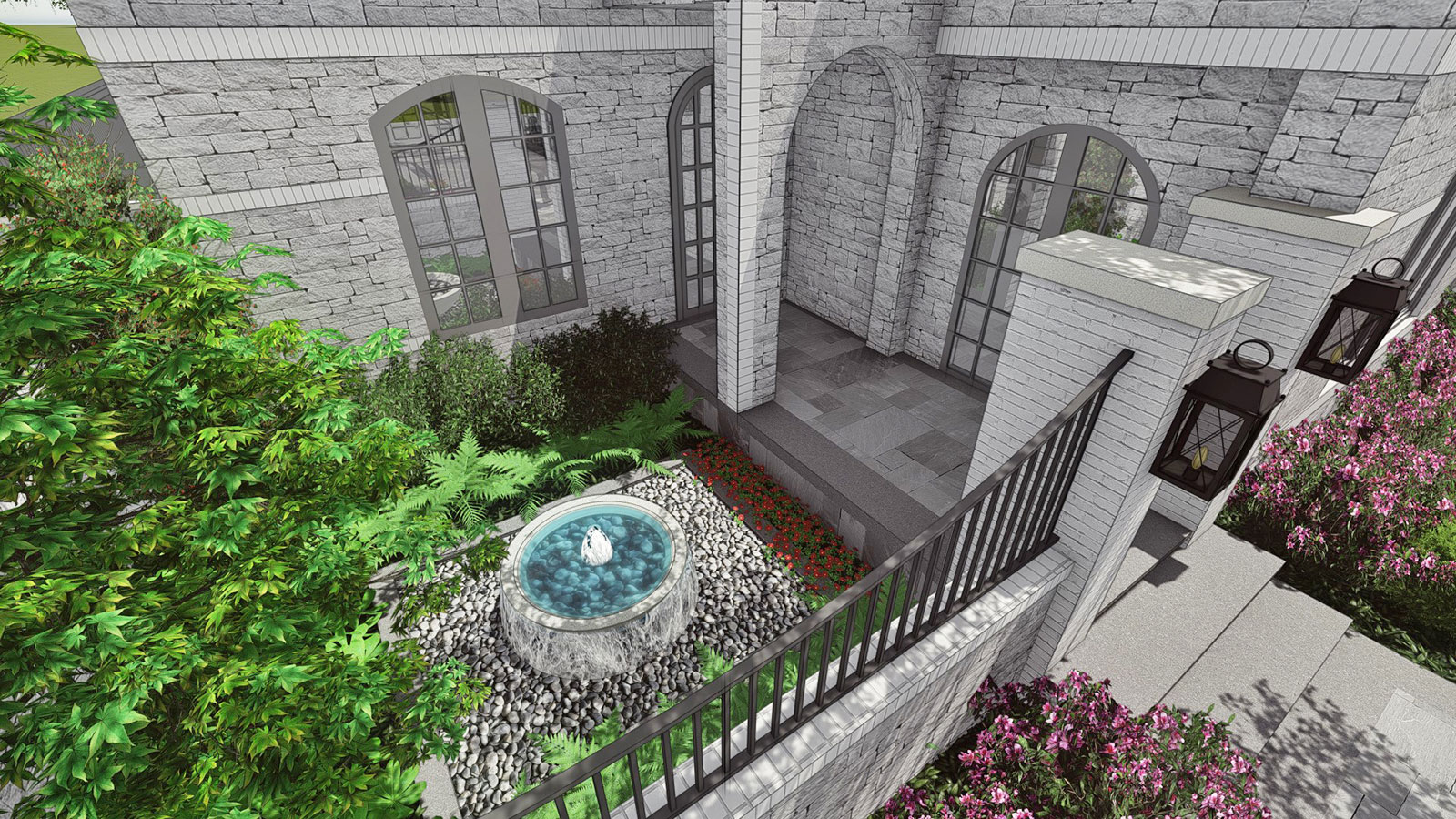 FRONT PORCH COURTYARD