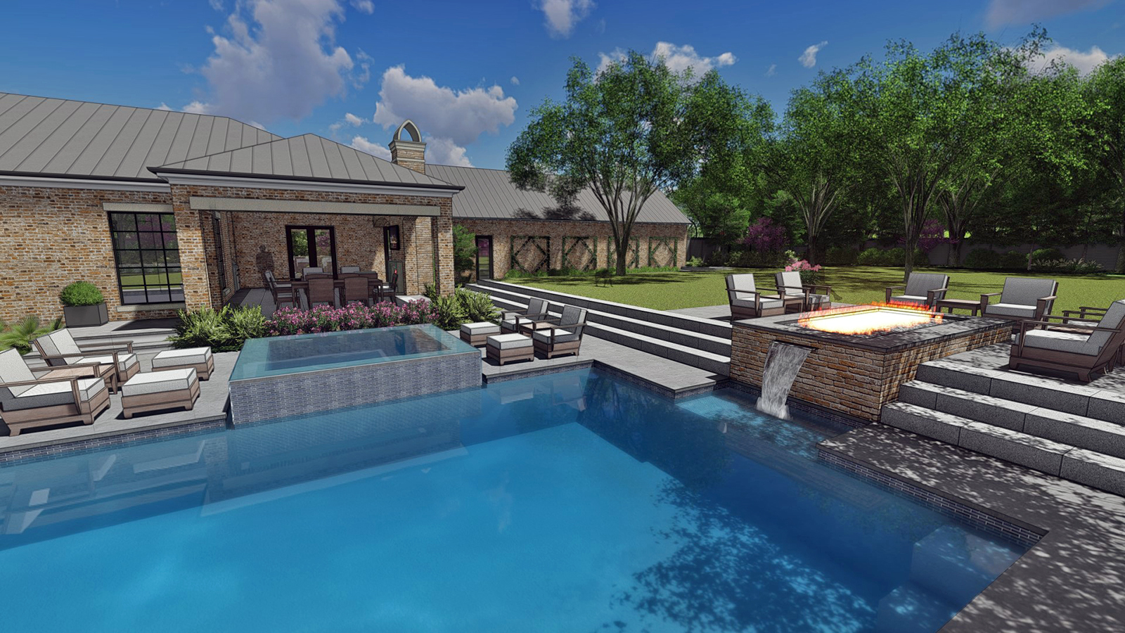 COVERED PORCH, POOL & SPA