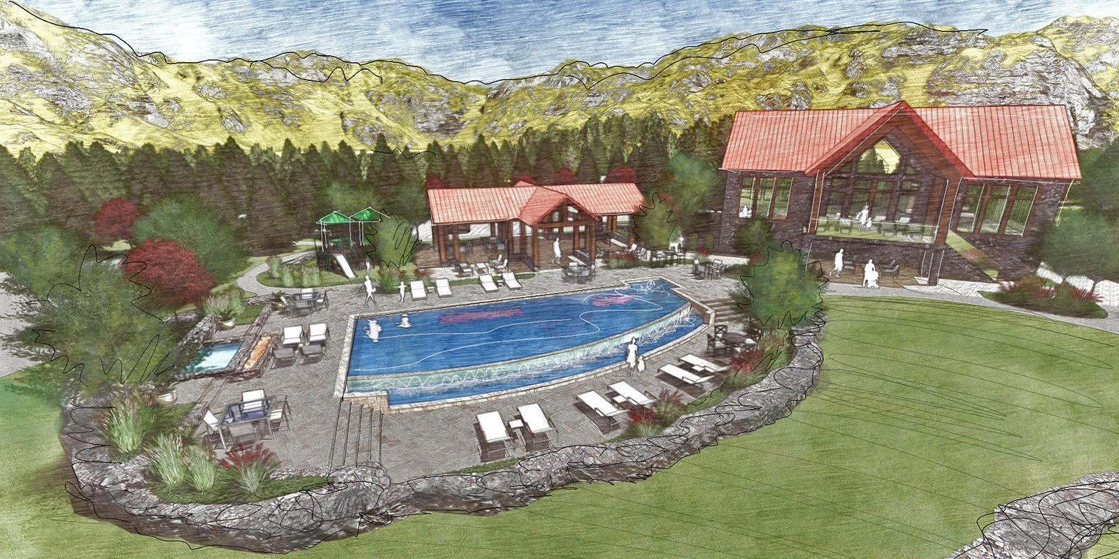 ELK PARK RANCH - Resident pool & amenity center