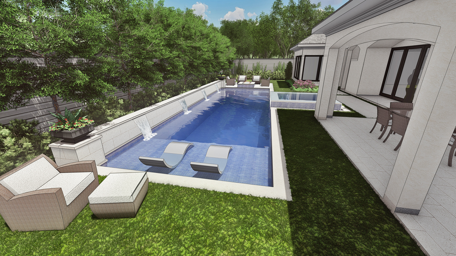 POOL VIEW TO EAST