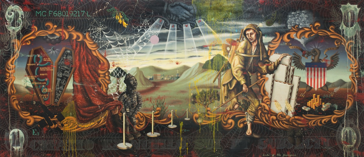 Matthew Couper, Limbo of the Journeyman, 2013, Oil on canvas, 358mm x 161cm, Private Collection USA