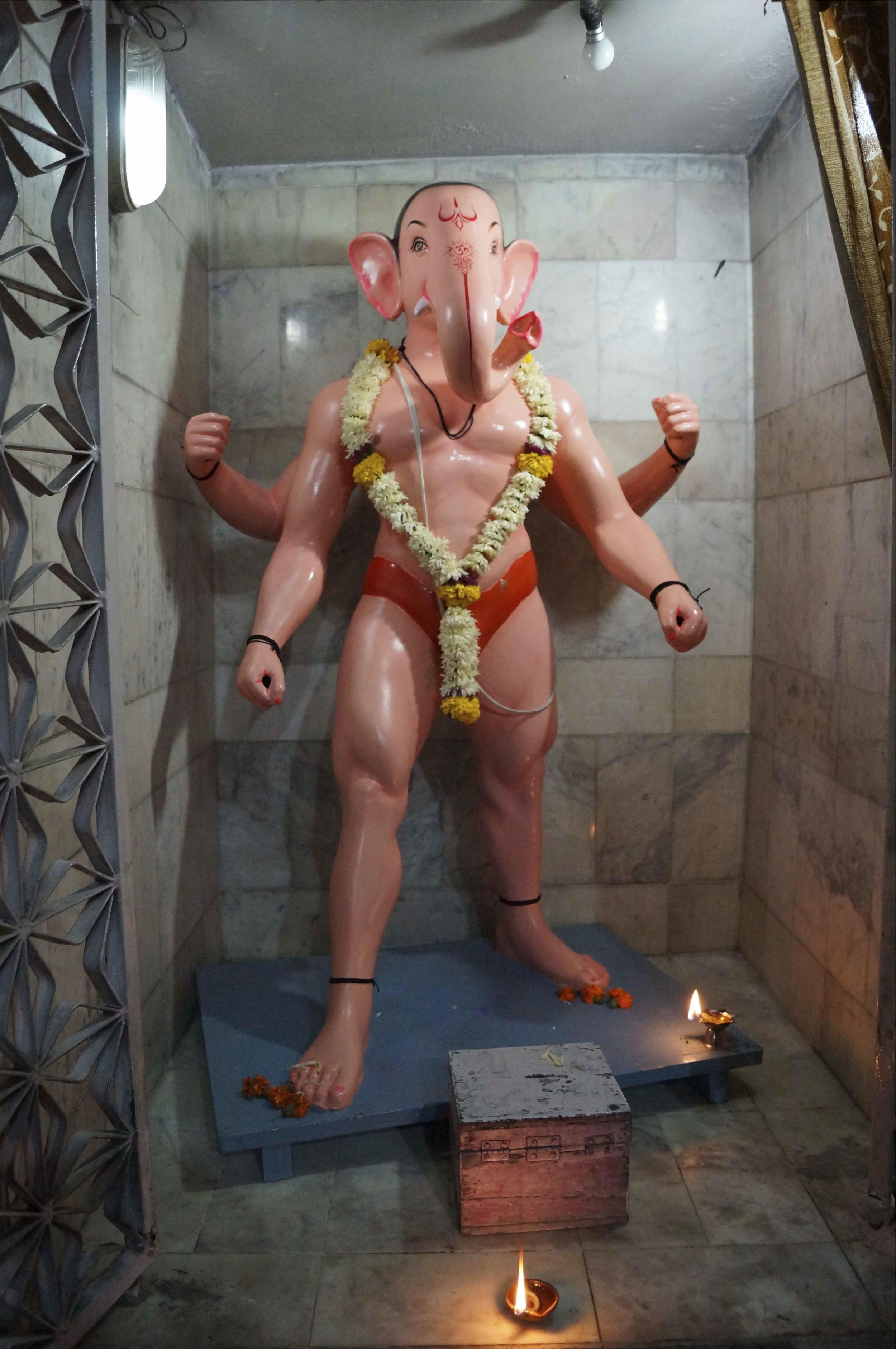 Sanjay Theodore   Homoerotic Ganesh  2013  Lenticular print  4 x 6cm   AUD $900