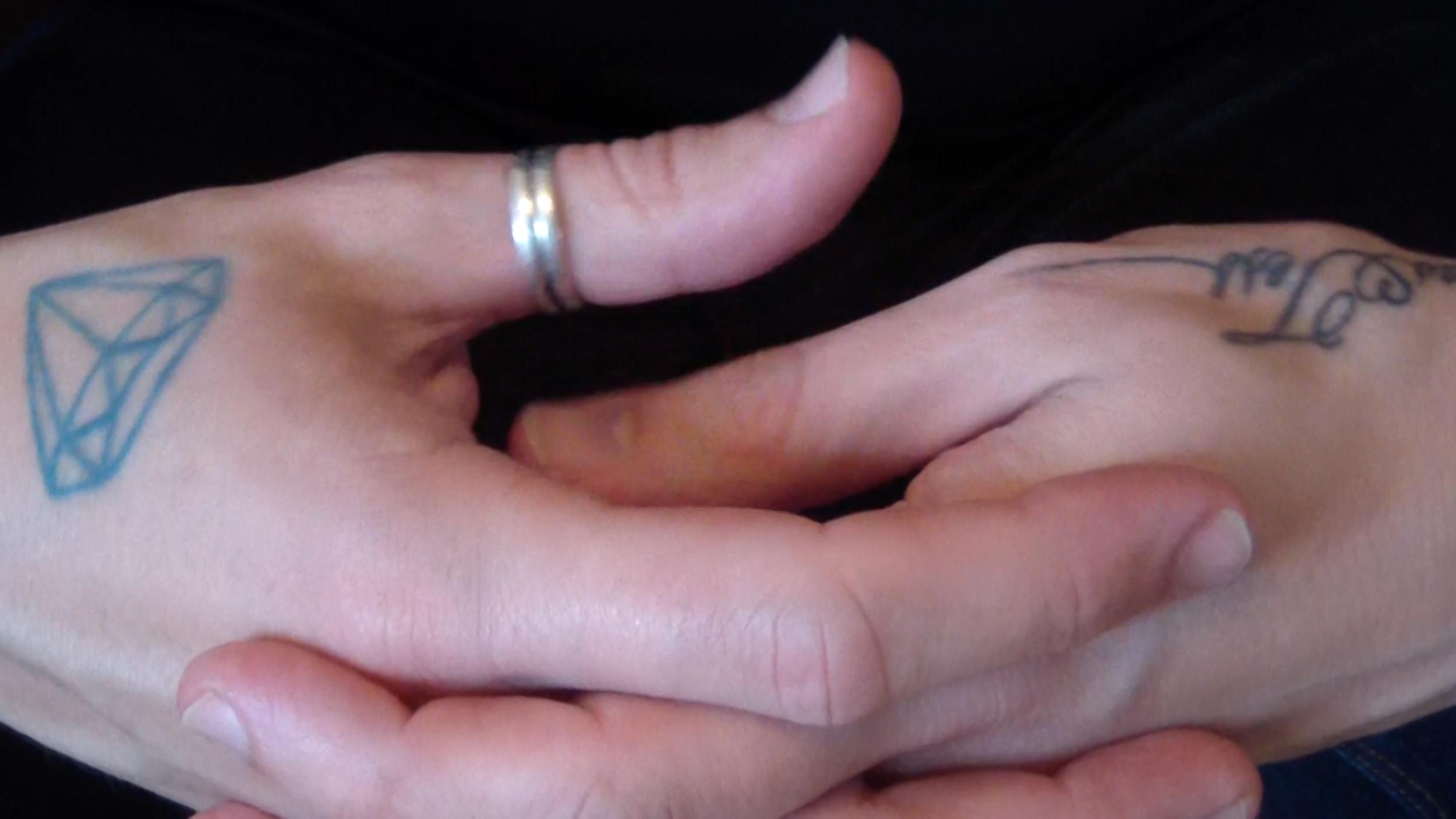 Twiddling My Thumbs (detail)  2014  HD digital video transferred to Blu-ray, silent  1 sec (looped)