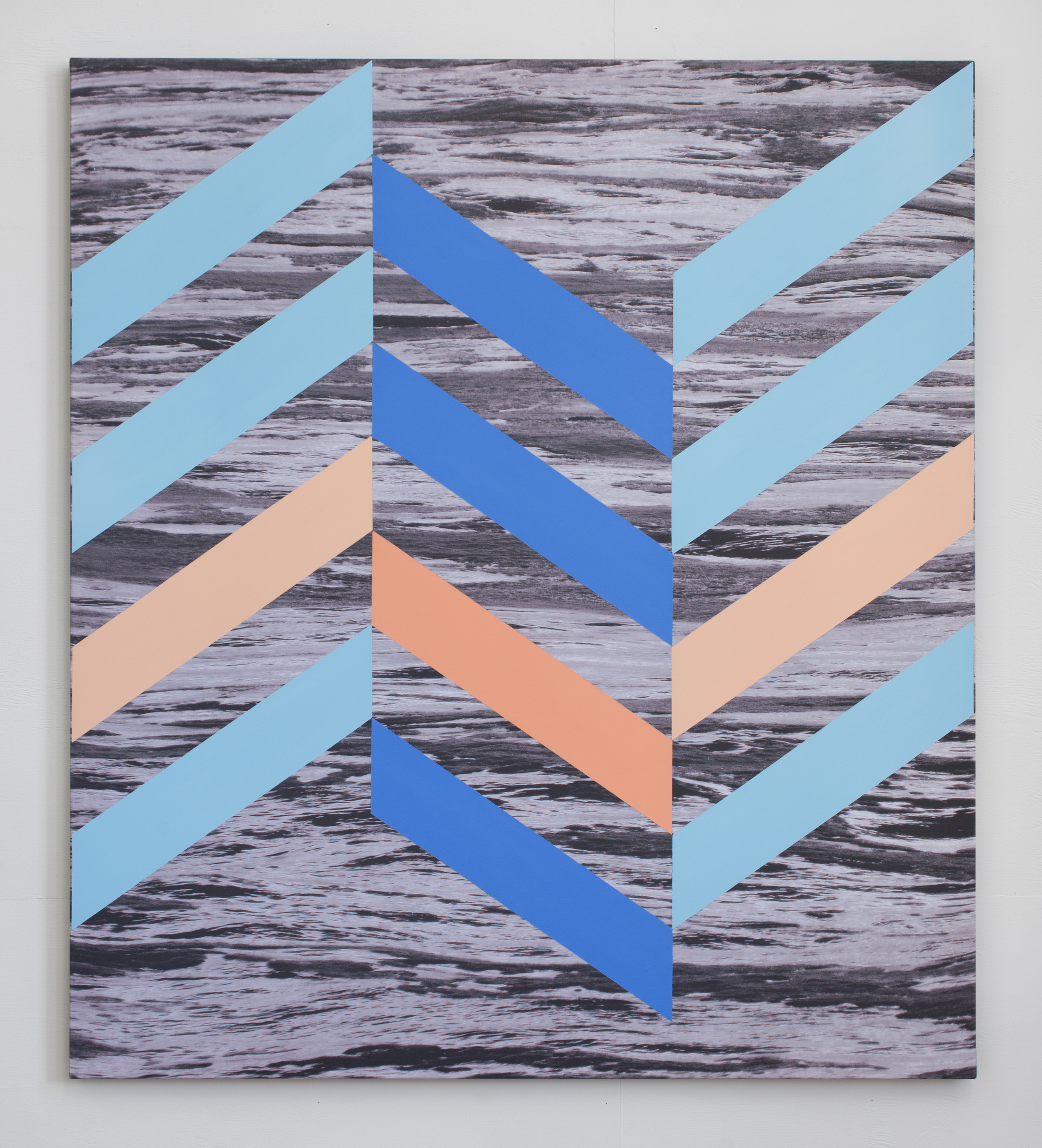 Pacific #1    2015    Pigment ink print and acrylic on canvas    137x 121.5cm