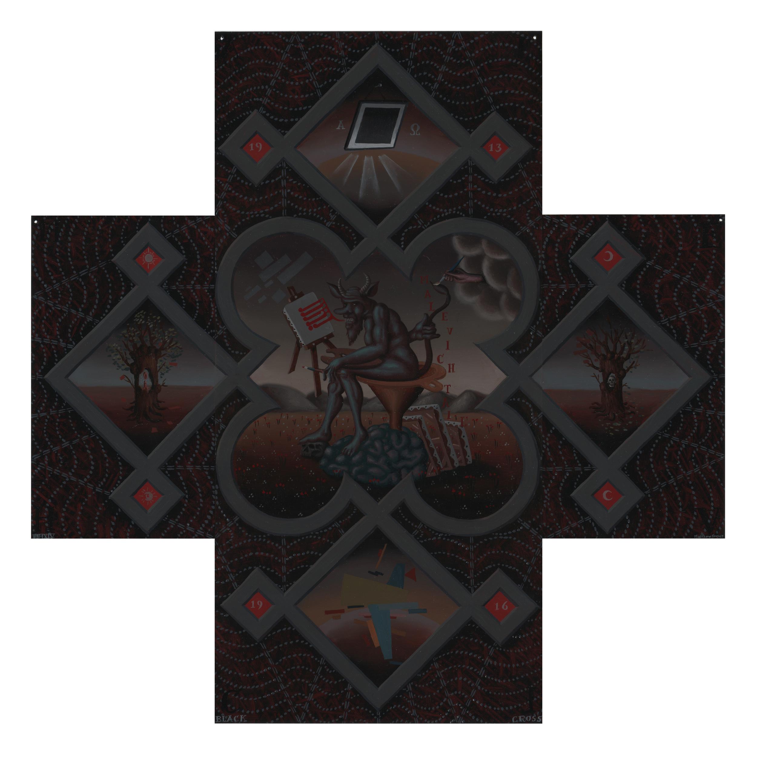 Matthew Couper, Black Cross, 2014, Oil on metal, 55 x 55cm.jpeg