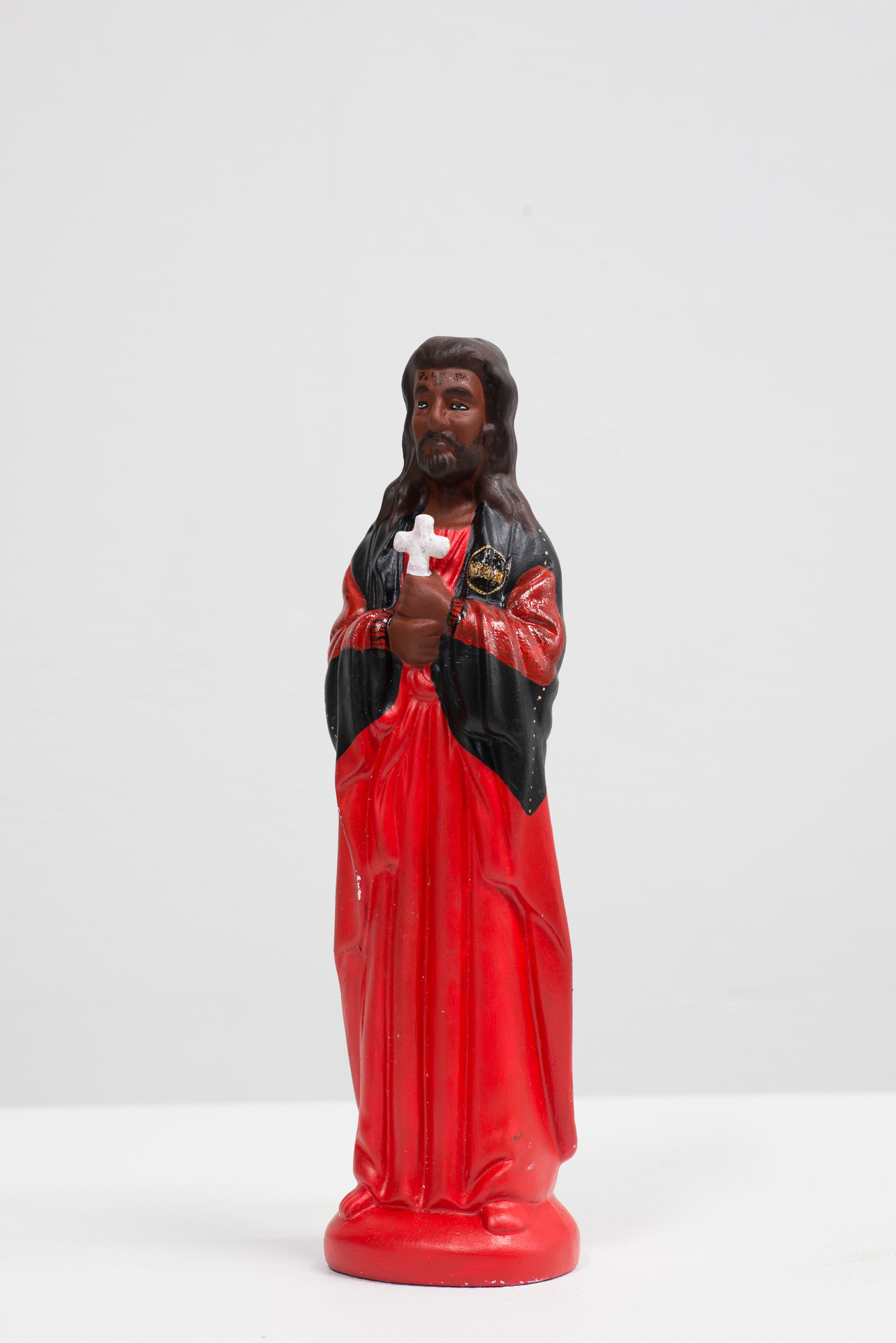 Kei whea ngā Atua o mua? Ko wai ngā Atua o naianei? /Where are our old Gods? Who are our Gods now? -Pataka (installation)  2015  Acrylic on found ceramic object  Dimensions vary