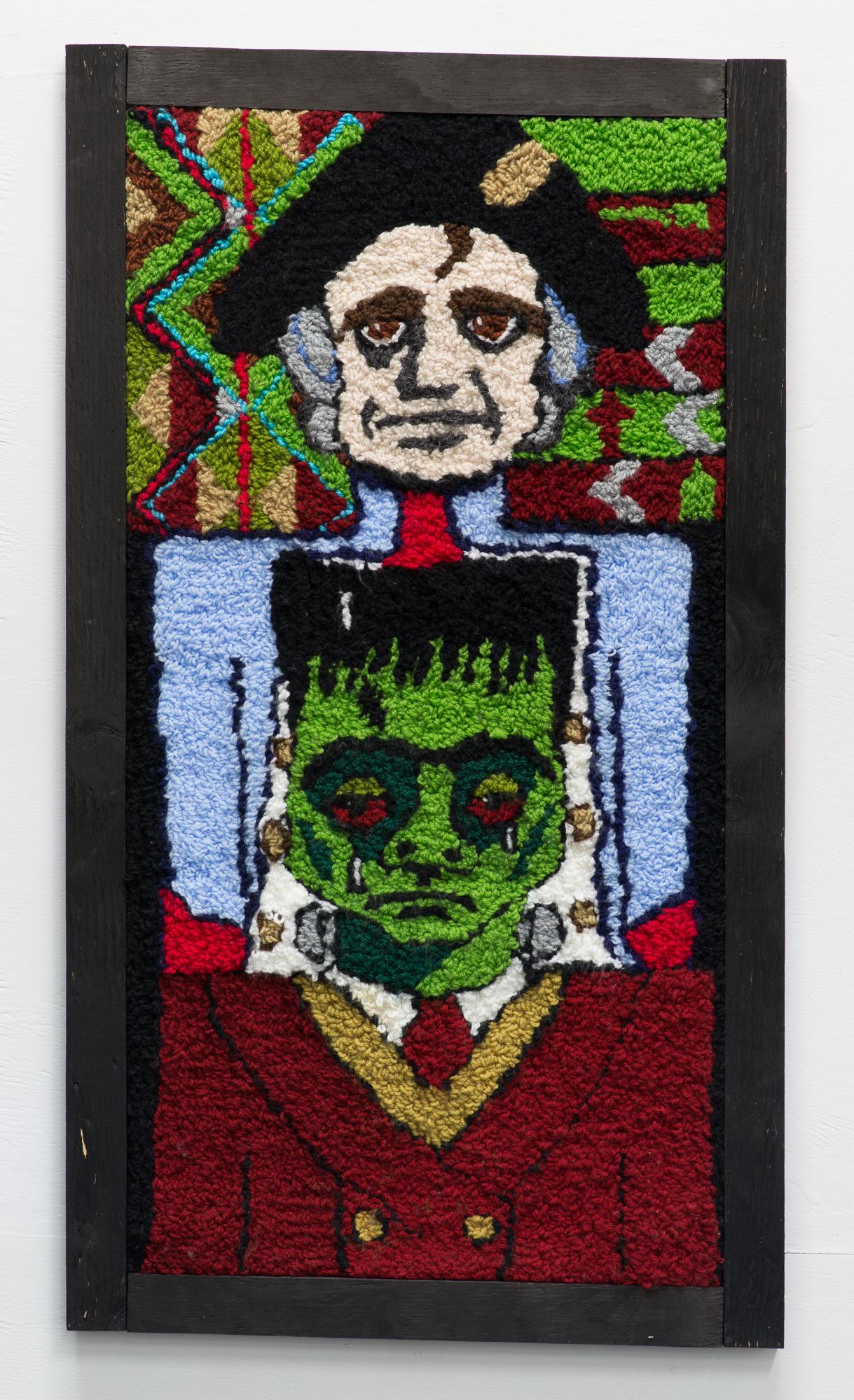 Empire is for Dicks  2015  Wool  90 x 55 x 3cm framed