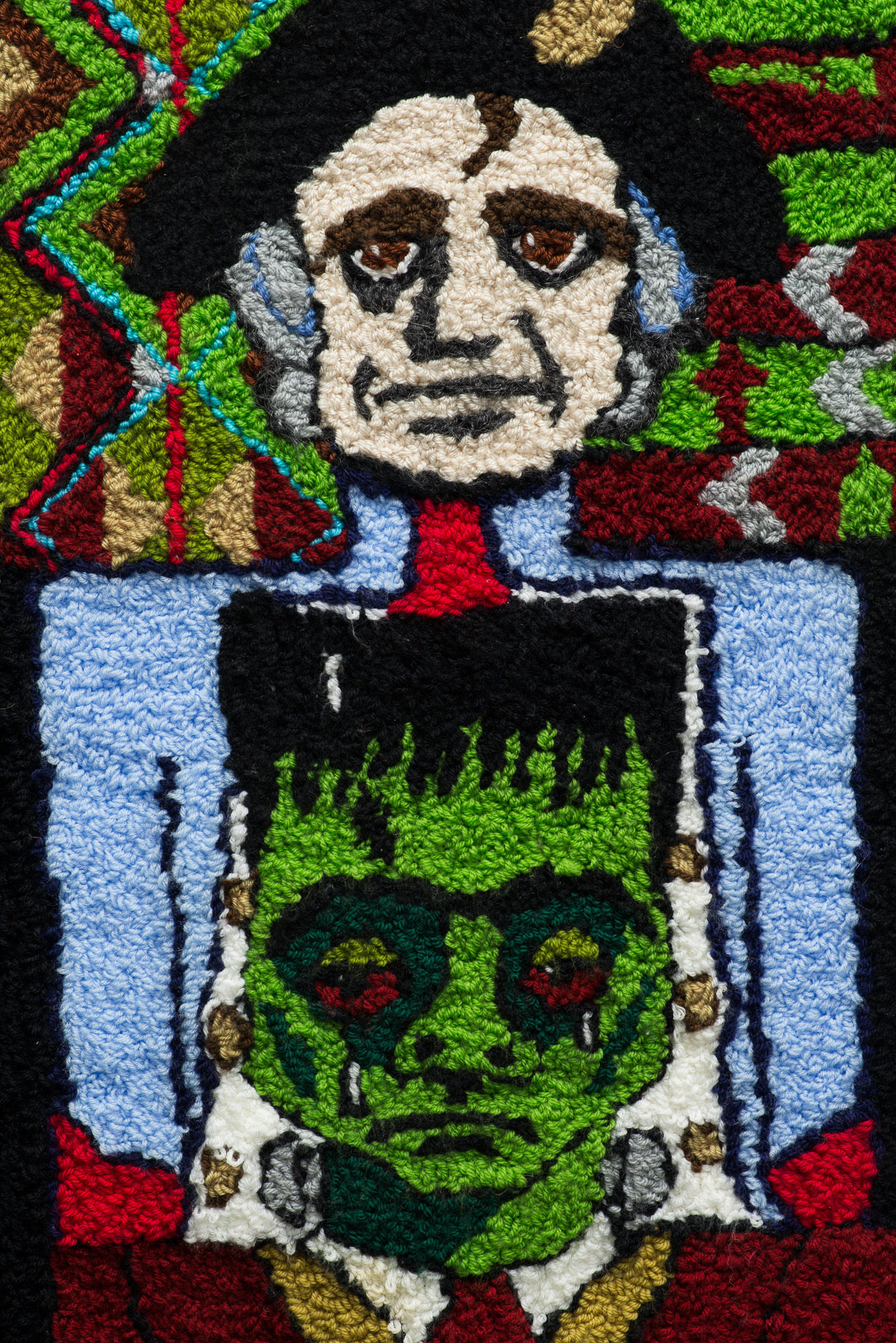 Empire is for Dicks (detail)  2015  Wool  90 x 55 x 3cm framed