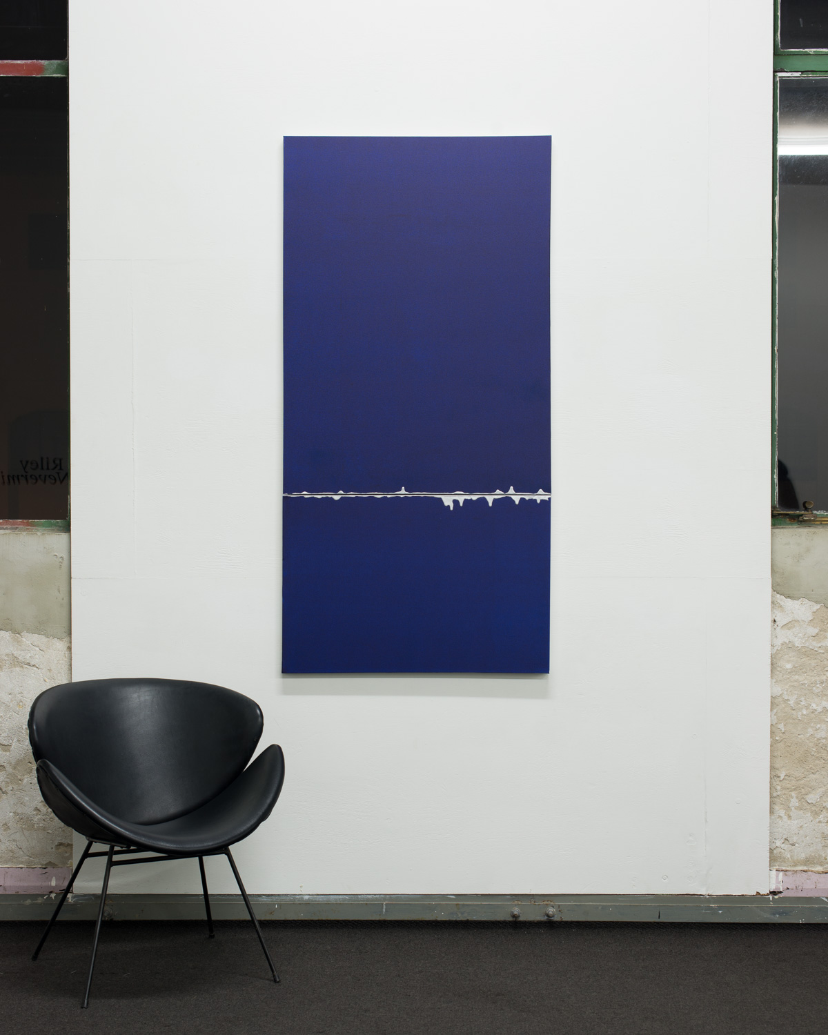 Noh (Blue/Silver)  2015  Oil and acrylic on canvas  152.5 x 76 x 3.5cm   Enquire
