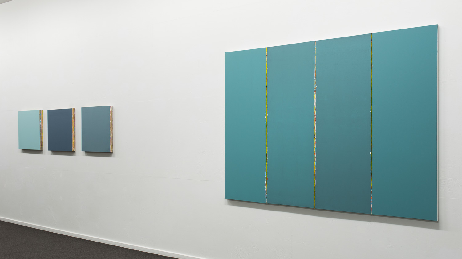 Structured painting (series) and Cross Current  2015  Installation view   Enquire