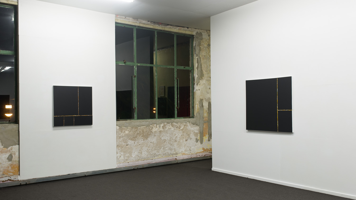 Restructured Painting (Gold) and Never mind  2015  Installation view   Enquire