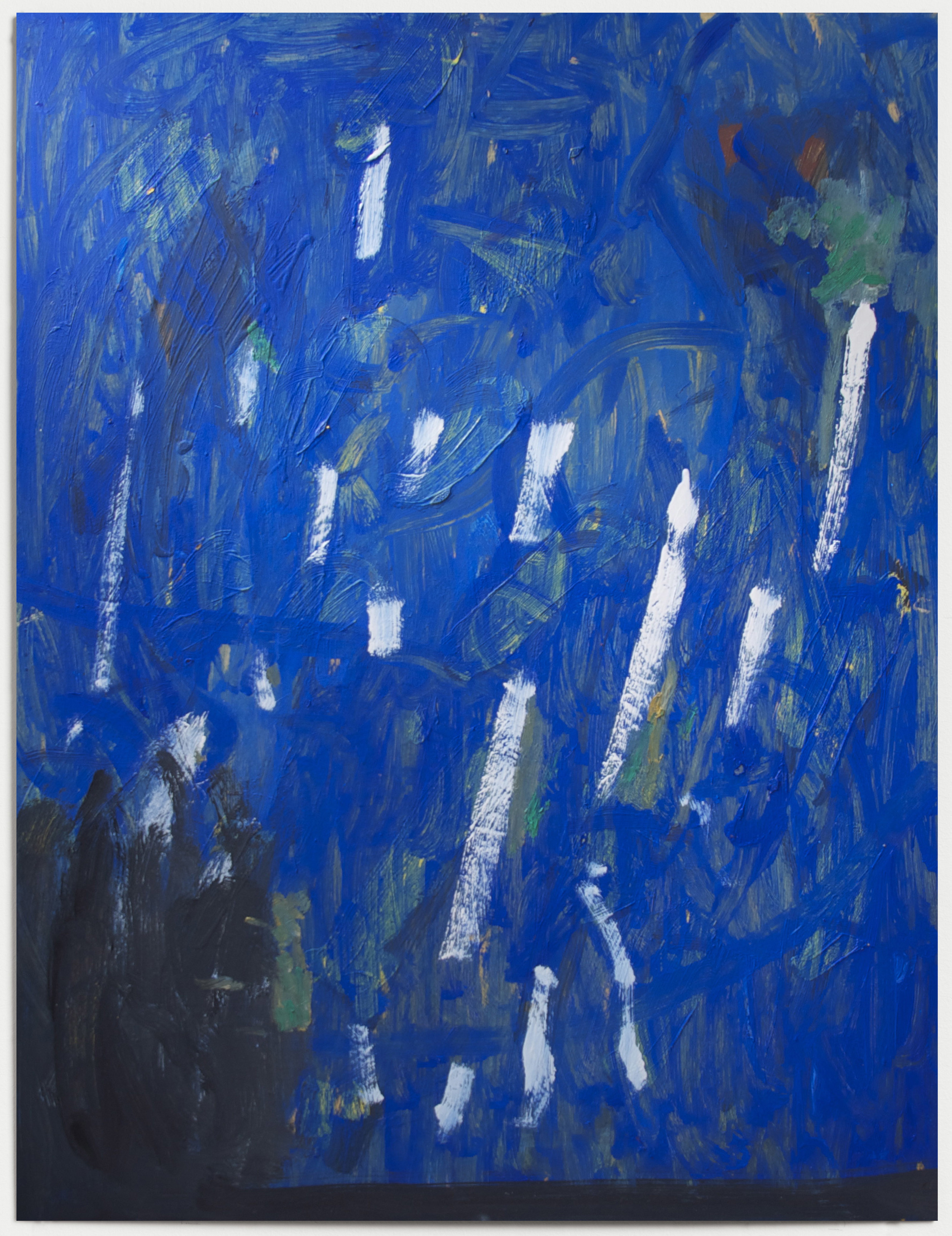Blue Lines  2015  Oil on board  80 x 60cm framed  Private Collection, NZ