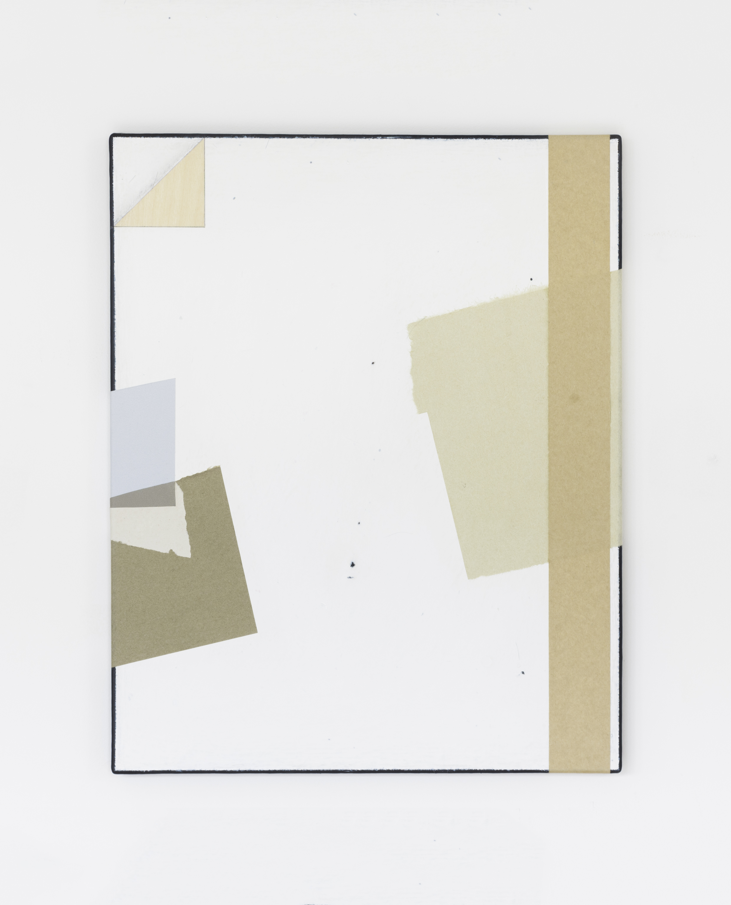 Painting No.2 2015 Awagami paper, Cole and Son wallpaper, wood veneer, gum tape, paint, linen, stretcher frame 40 x 50 cm $5000 USD