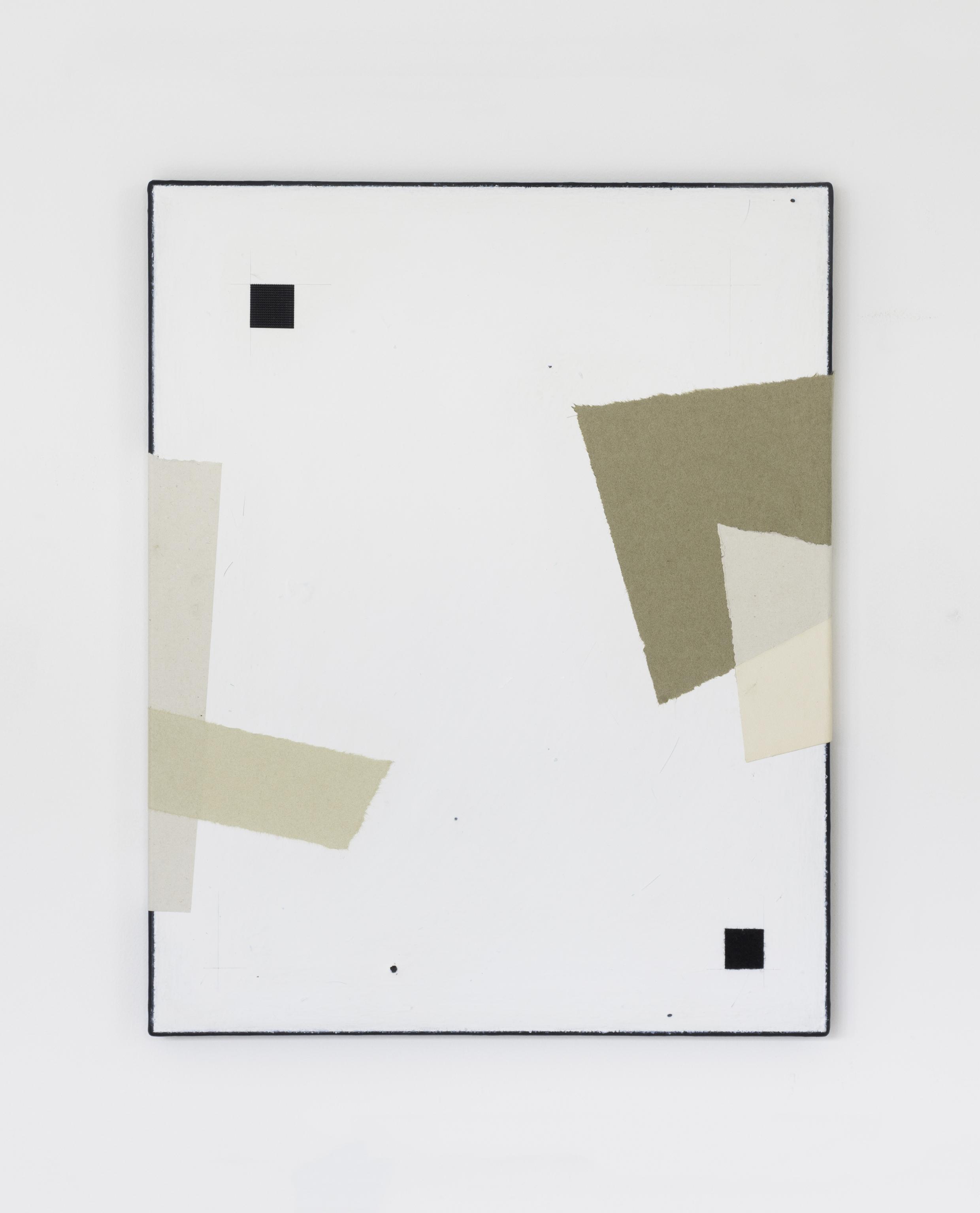 Painting No.1 2015 Awagami paper, Velcro, paint, linen, stretcher frame 40 x 50 cm $5000 USD