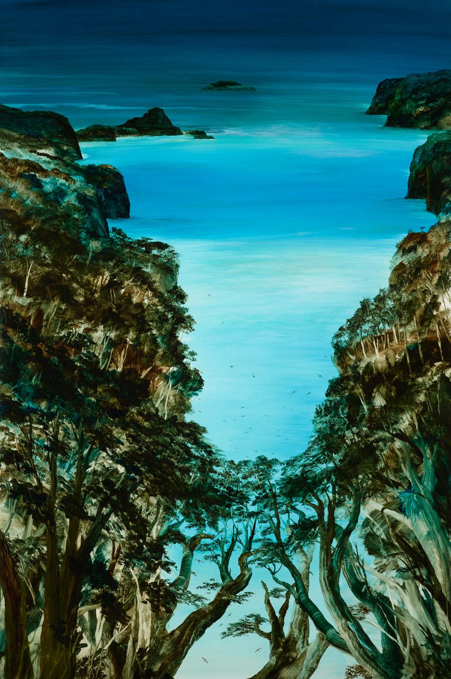 Manu Whenua  2016 Oil on canvas 1520 x 1010mm  Enquire
