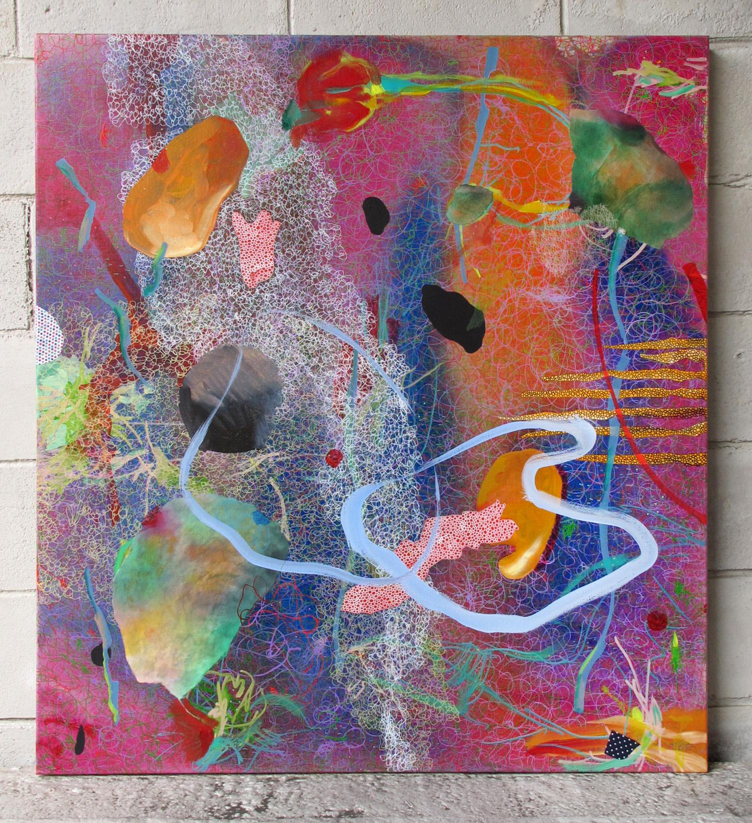 5th March 2016, 1070 x 970mm, acrylic, sumi-e paper, fabric on linen..JPG