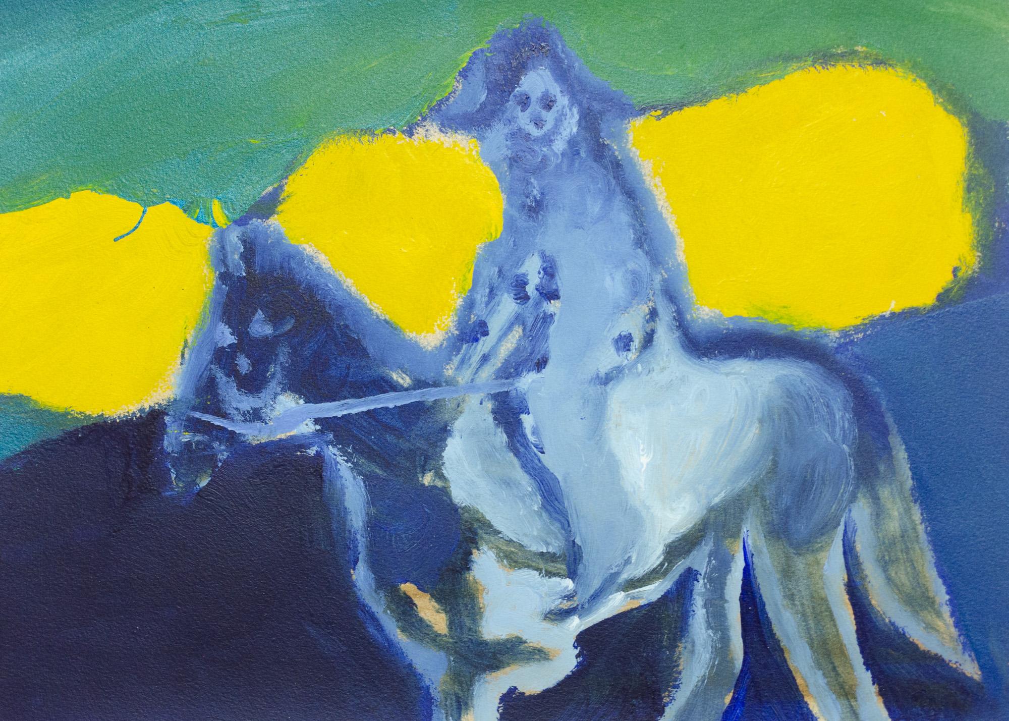Rhys Lee, Riders, 2016, Acrylic on paper, 28 x 38cm, $700-1.jpg